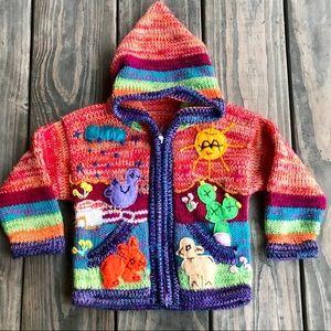 Vintage baby/toddler Peruvian sweater